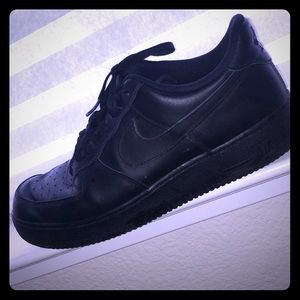 Black AirForce 1's